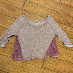 We the free cropped sweater